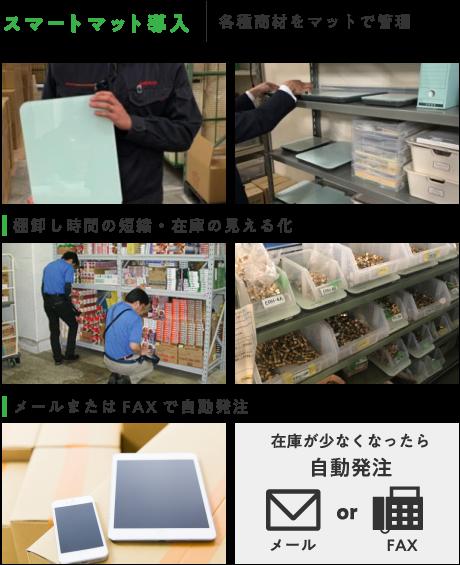 スマートマット導入 各種商材をマットで管理